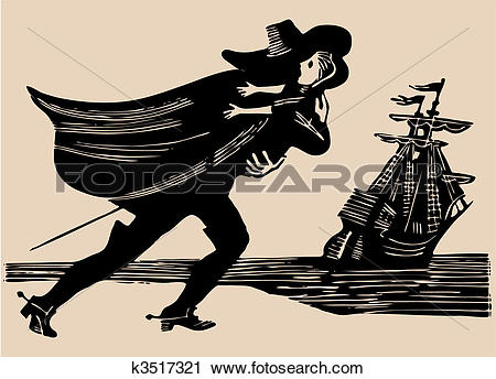 Clipart of midnight kidnapping etching k3517321.