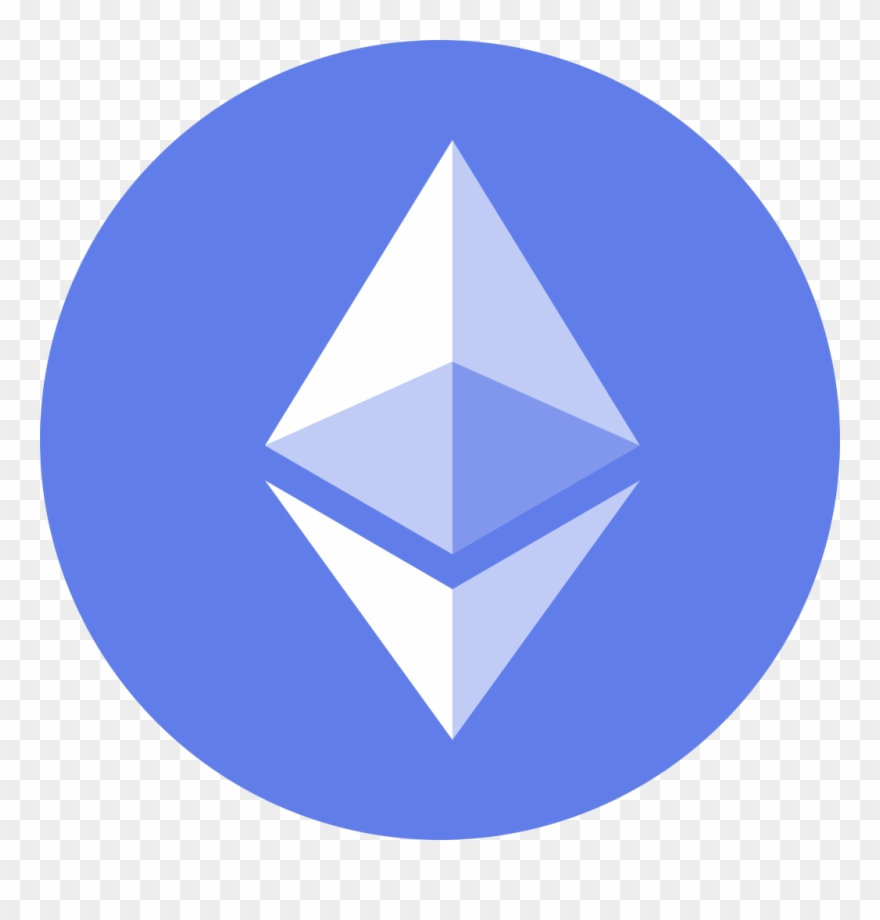 Eth Icon Cryptocurrency Flat Transparent Background.