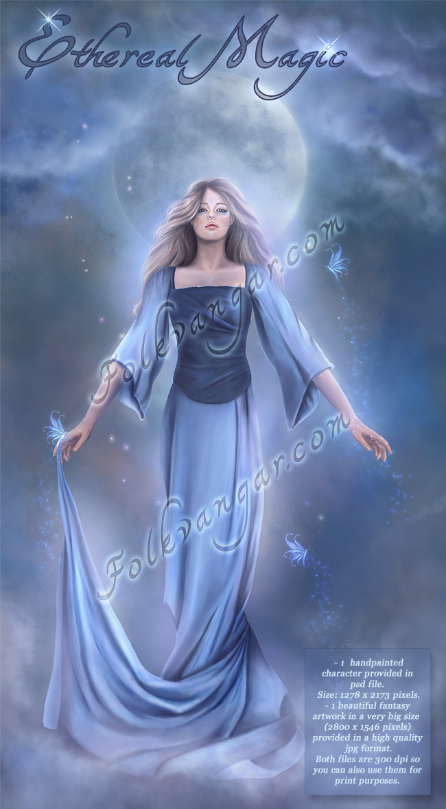 Folkvangar: Ethereal Magic : Folkvangar, Digital Art,Fantasy Art.