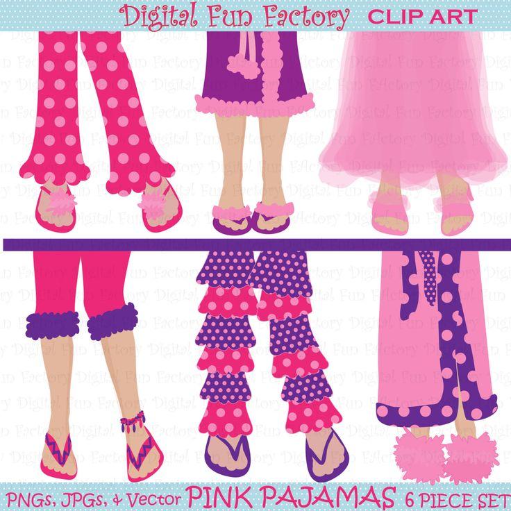 Ladies Pajama Party Clipart.