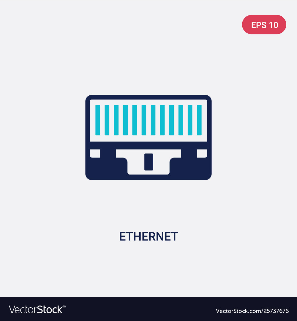 Two color ethernet icon from electrian.