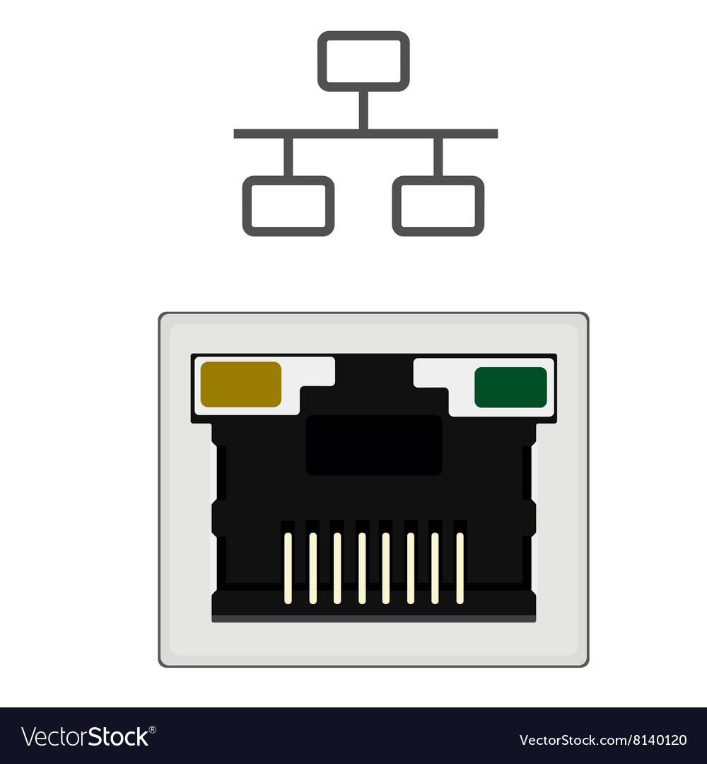 Network ethernet port.