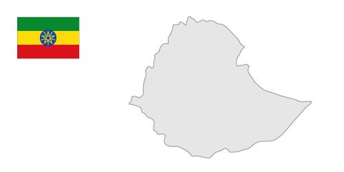 Ethiopia map clipart.