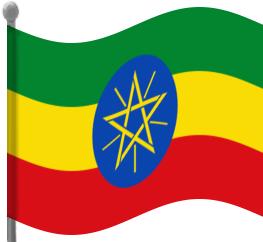 Ethiopia Flag Waving Clip Art Download.