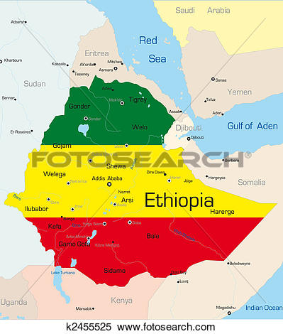 Stock Illustration of Ethiopia k2455525.