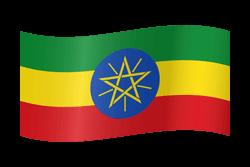 Ethiopia flag clipart.