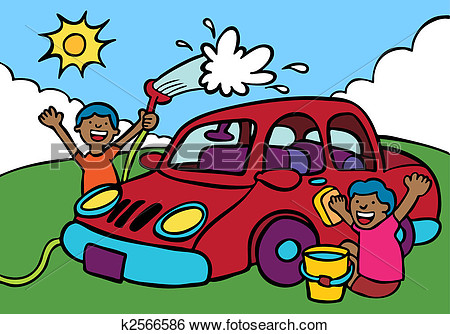 Ethnic buy a car clipart.