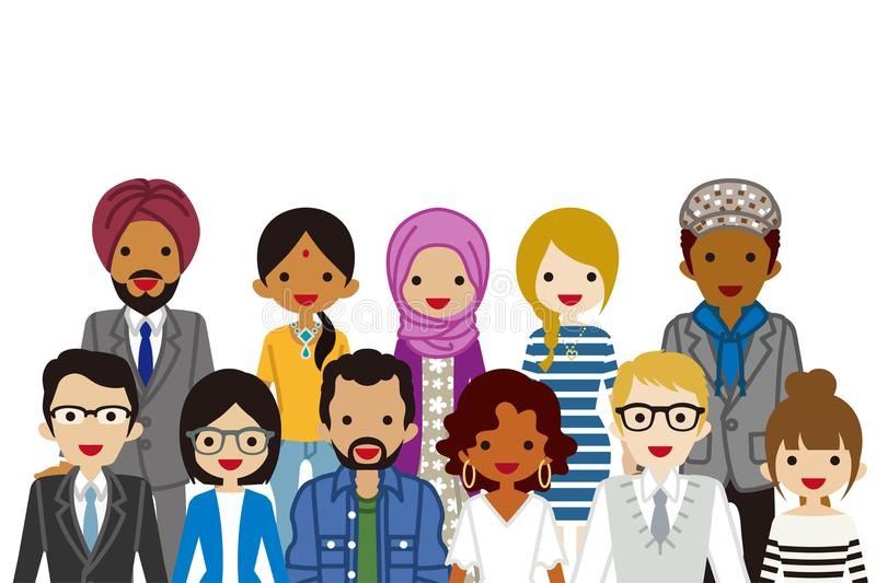 Clip Art Ethnic People Stock Illustrations.