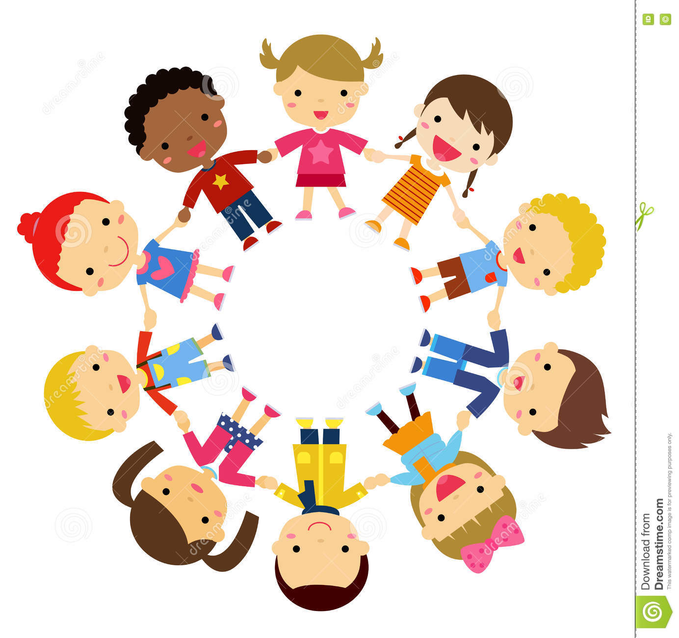 Children Friends From Around The World Of Various Ethnic Groups In.