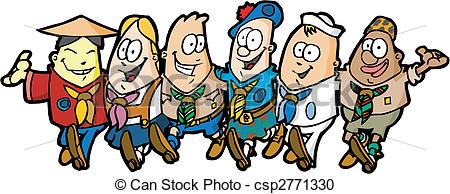 Group of scouts.
