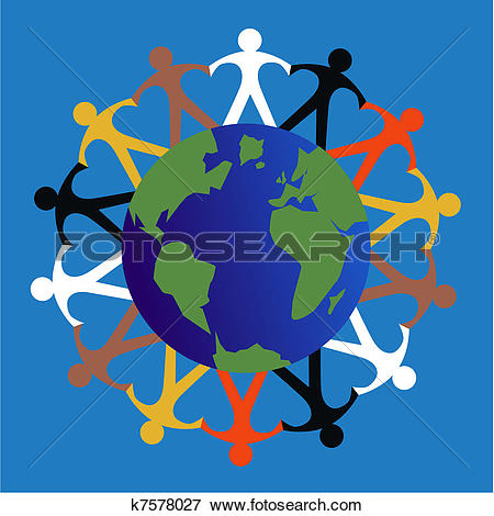 Clip Art of ethnic mixed people k7578027.