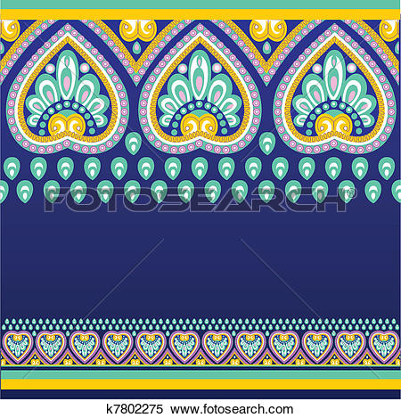Clipart of Seamless pattern with ethno motives k7802275.