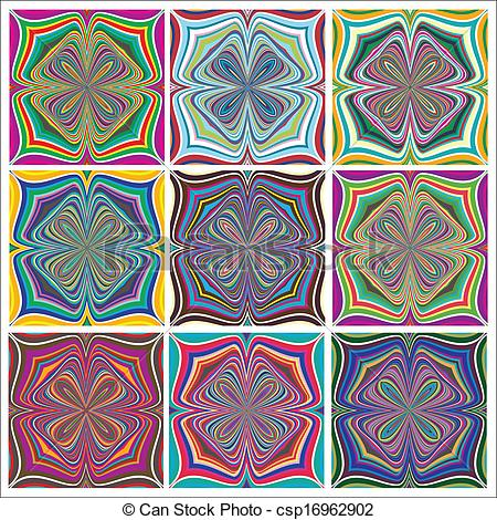 Vector Clipart of Ethno Pattern Set.