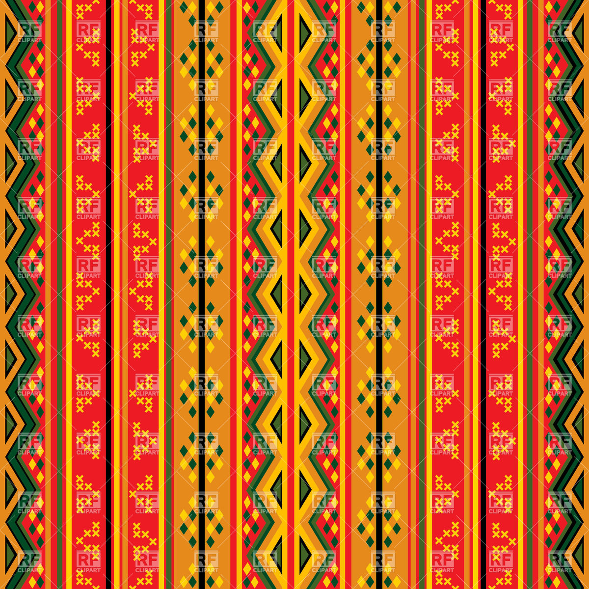Seamless ethnic geaometric pattern Vector Image #31786.
