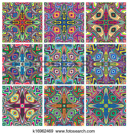 Clip Art of Ethno Pattern Set k16962469.