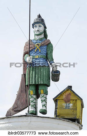 "Stock Photo of ""Sculpture of St. Florian, Lithuanian Ethnographic."