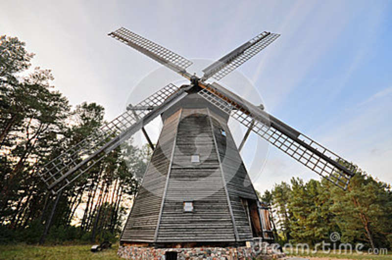Windmill In Open.