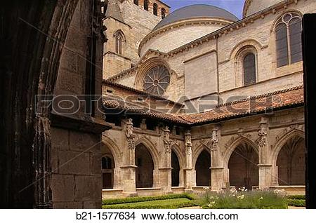 Stock Photo of Cloister of the Saint.