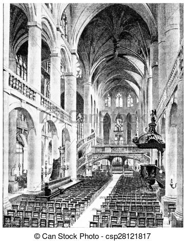 Clipart of Interior view of Saint.