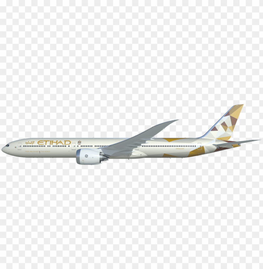 etihad airways boeing 777x PNG image with transparent.