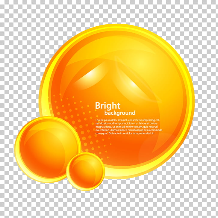 Círculo naranja, etiqueta redonda halo PNG Clipart.