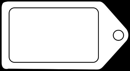 Etiqueta icono vector clip art.