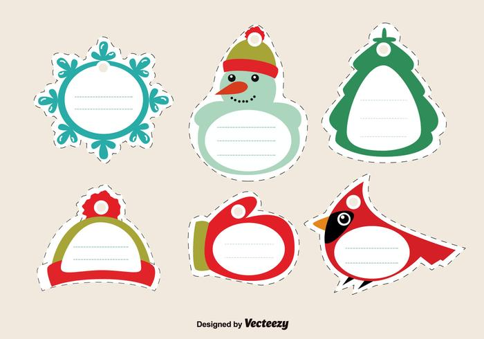 Stitched Christmas Tags.