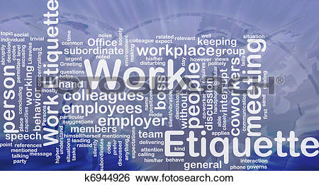 Stock Illustration of Work etiquette background concept k6944926.