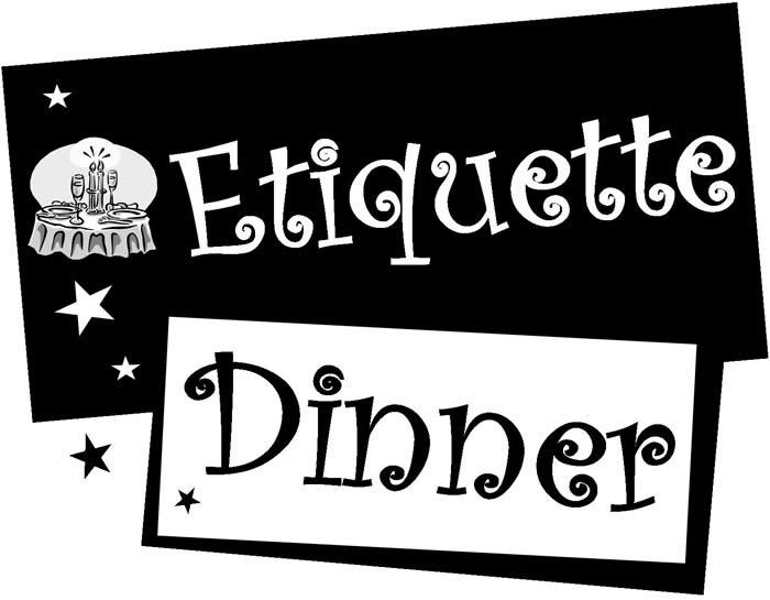 Dining etiquette clipart.