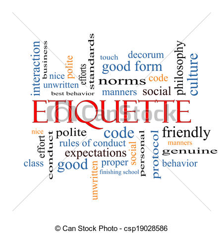 Etiquette Illustrations and Stock Art. 6,649 Etiquette.