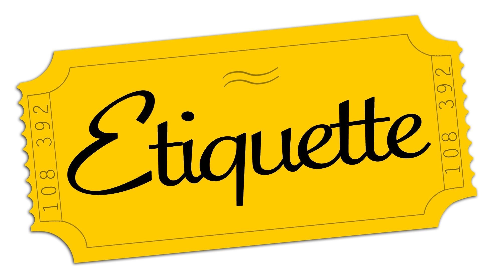 Column: Etiquette.