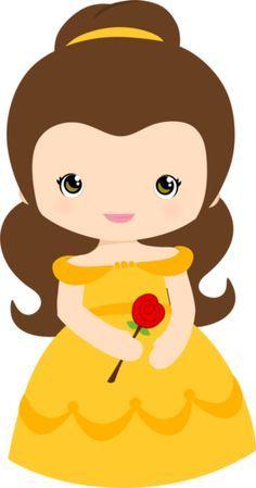 """Adorable Belle✨"""" ~ Princesse Belle """"ChiBi"""" ~ La Belle et la Bête."""