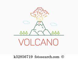 Mount etna Clip Art and Illustration. 13 mount etna clipart vector.