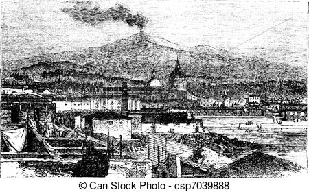 Mount etna clipart #5