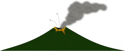 Etna Eruption Seen From Space Station Clip Art Download.