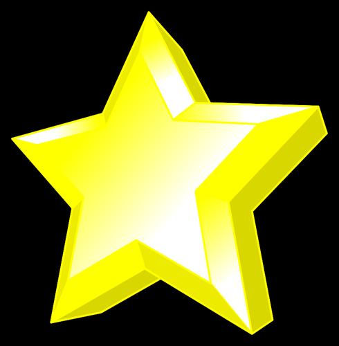 Image de l\'étoile jaune brillante avec biseau..