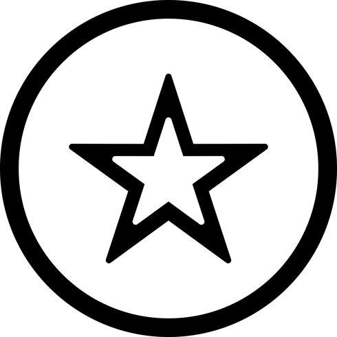 Icône étoile de vecteur.