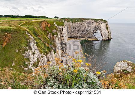 Stock Photos of Cliffs of Etretat, Normandy, France csp11121531.