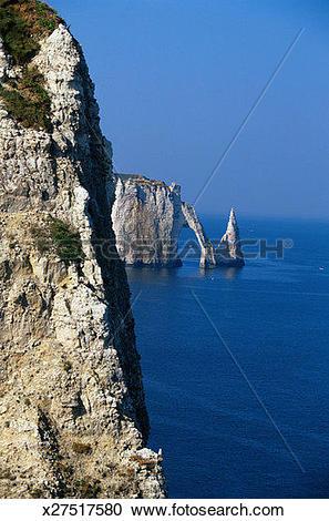 Stock Photography of Cliffs at Etretat x27517580.