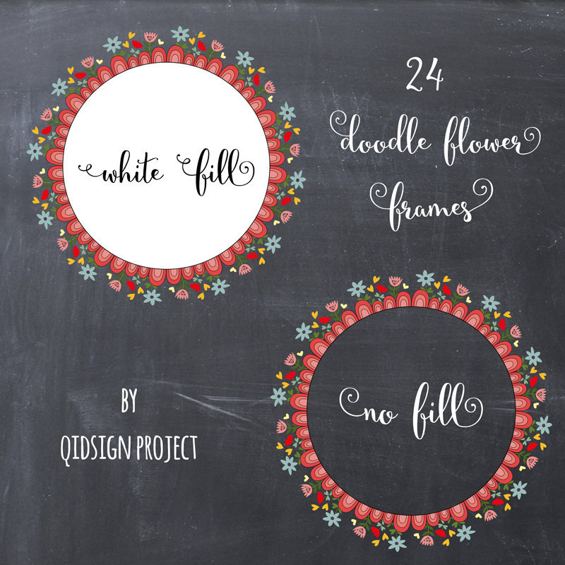 BUY2GET1FREE Floral Clipart wedding by qidsignproject on Etsy.