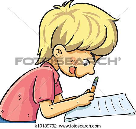 Clip Art of Kids Studying k11579457.
