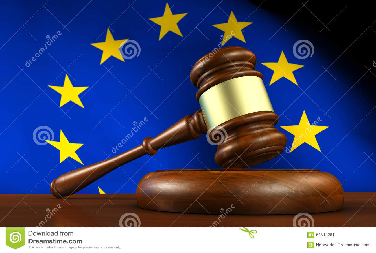 European Union EU Law And Justice Stock Illustration.