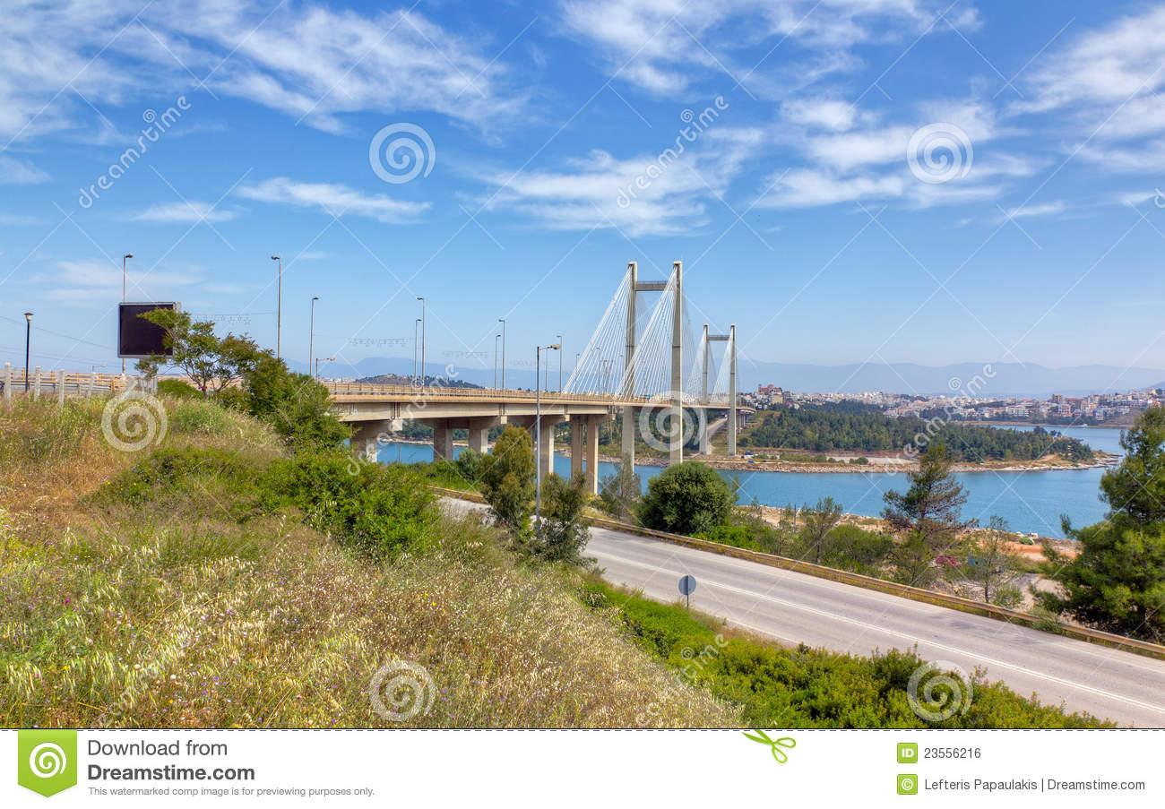 Bridge Of Chalkis, Euboea, Greece Royalty Free Stock Image.