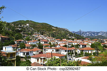 Pictures of Kimi village in Euboea Greece.