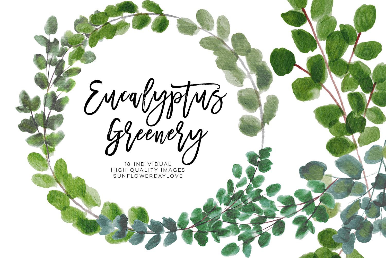 Greenery Leaf Watercolor clipart, Eucalyptus clipart, Watercolor greenery  flower, Watercolour botanical Wreath Leaves, Leaf clipart, wedding.