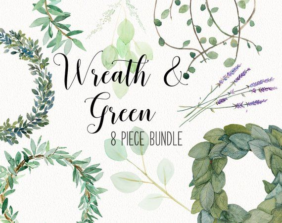 Greenery and wreath BUNDLE with eucalyptus, vines, magnolia.