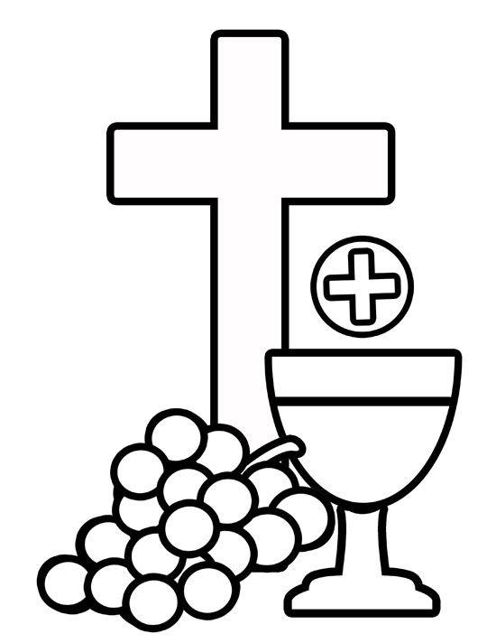 Catholic First Communion Cross Clip Art.
