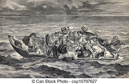 Clip Art of Don Juan's Shipwreck.