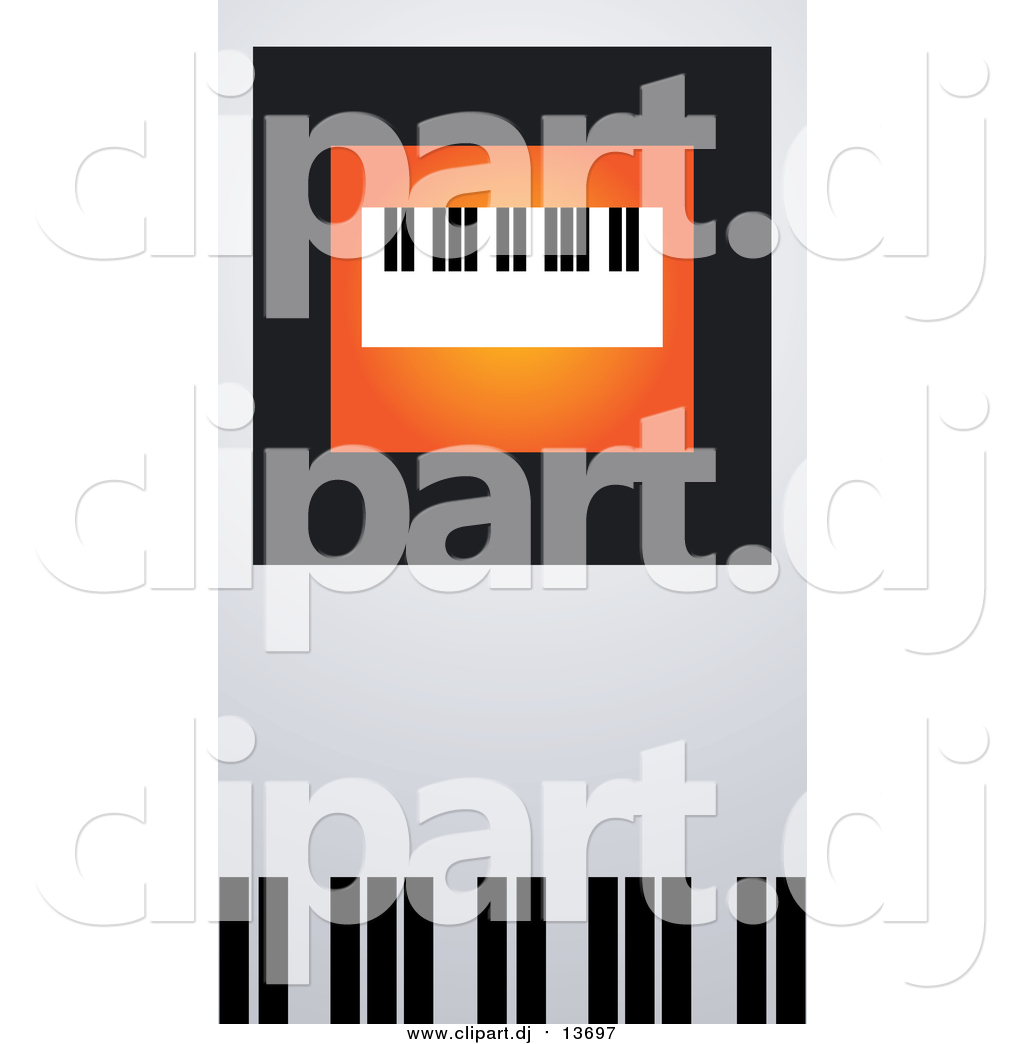 Vector Clipart of a Keyboard on Orange, Black and Gray by Eugene.