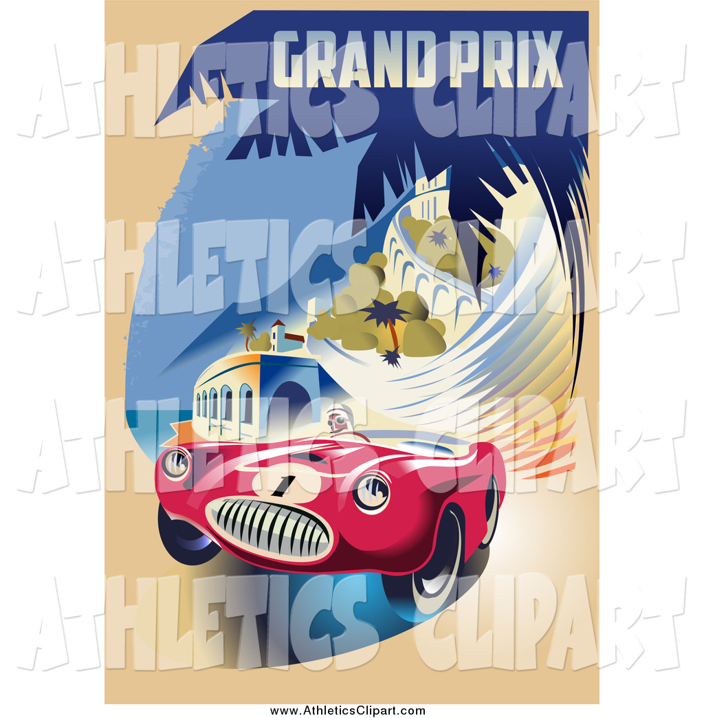 Clip Art of a Retro Grand Prix Monaco Racing Design by Eugene.